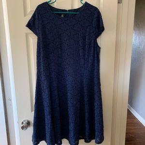 Alfani Navy lace dress 16w